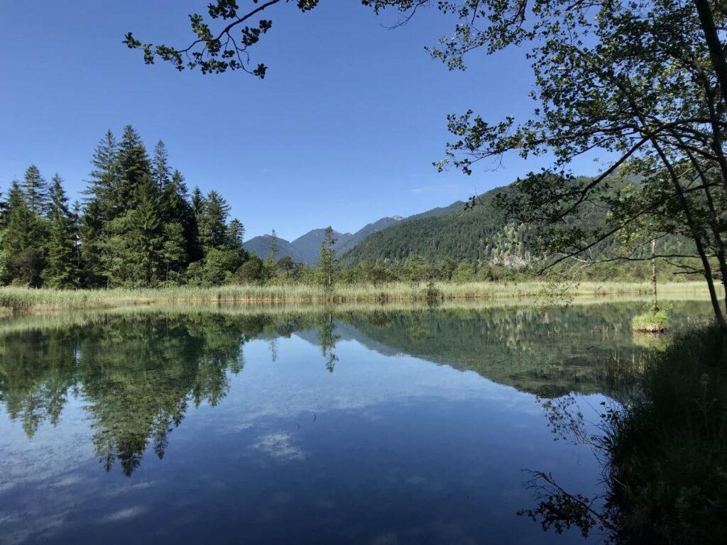 Sieben Quellen Eschenlohe - wunderschönes glasklares Wasser