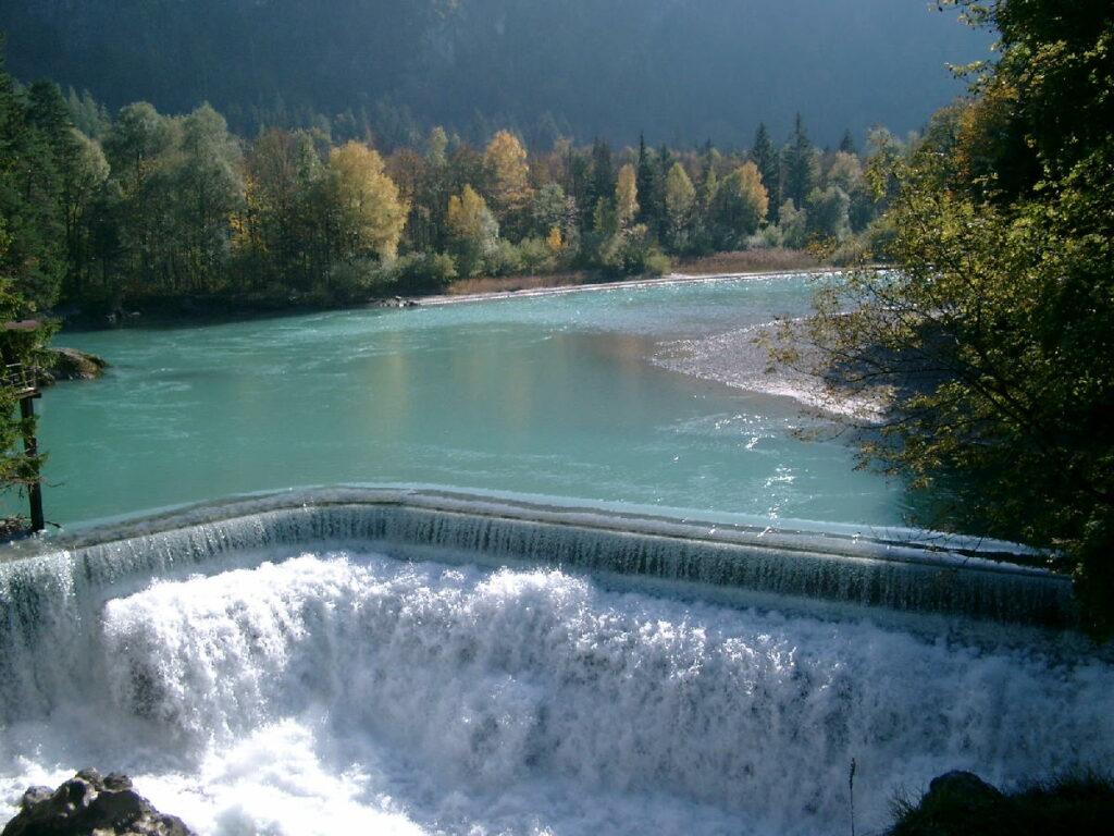 Imposante Wasserfälle Bayern - der Lechfall in Füssen